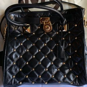 MICHAEL  Michael Kors Black Quilted Leather Tote
